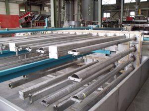 Produktionsanlage für Linearprofile aus Recyclingkunststoff